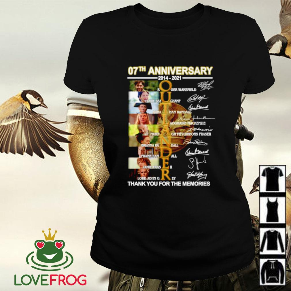 07th Anniversary 2014-2021 Outlander all character thank you for the memories signature Ladies-tee