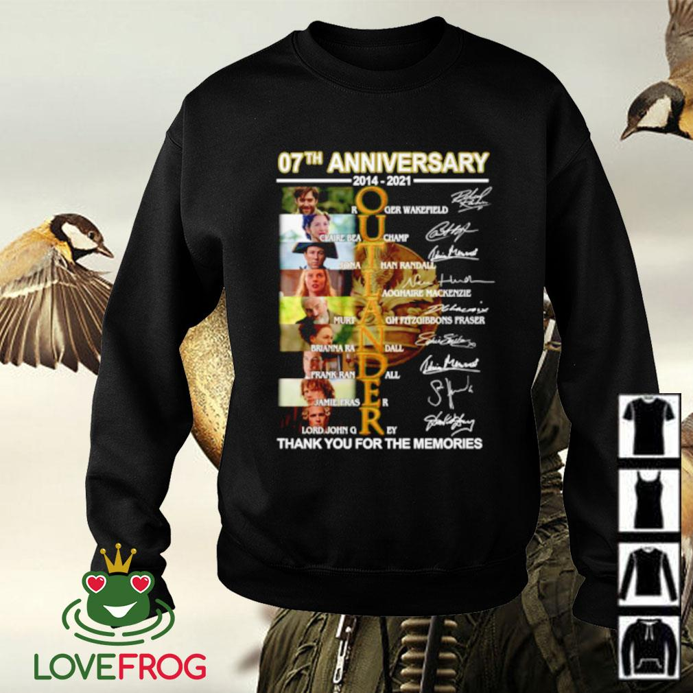 07th Anniversary 2014-2021 Outlander all character thank you for the memories signature Sweater