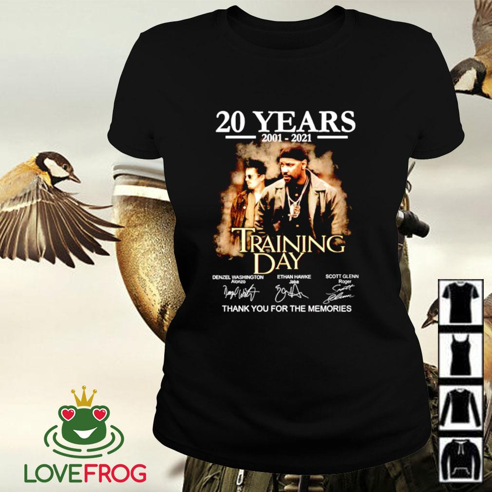20 Years 2001-2021 Training day thank you for the memories signature Ladies-tee
