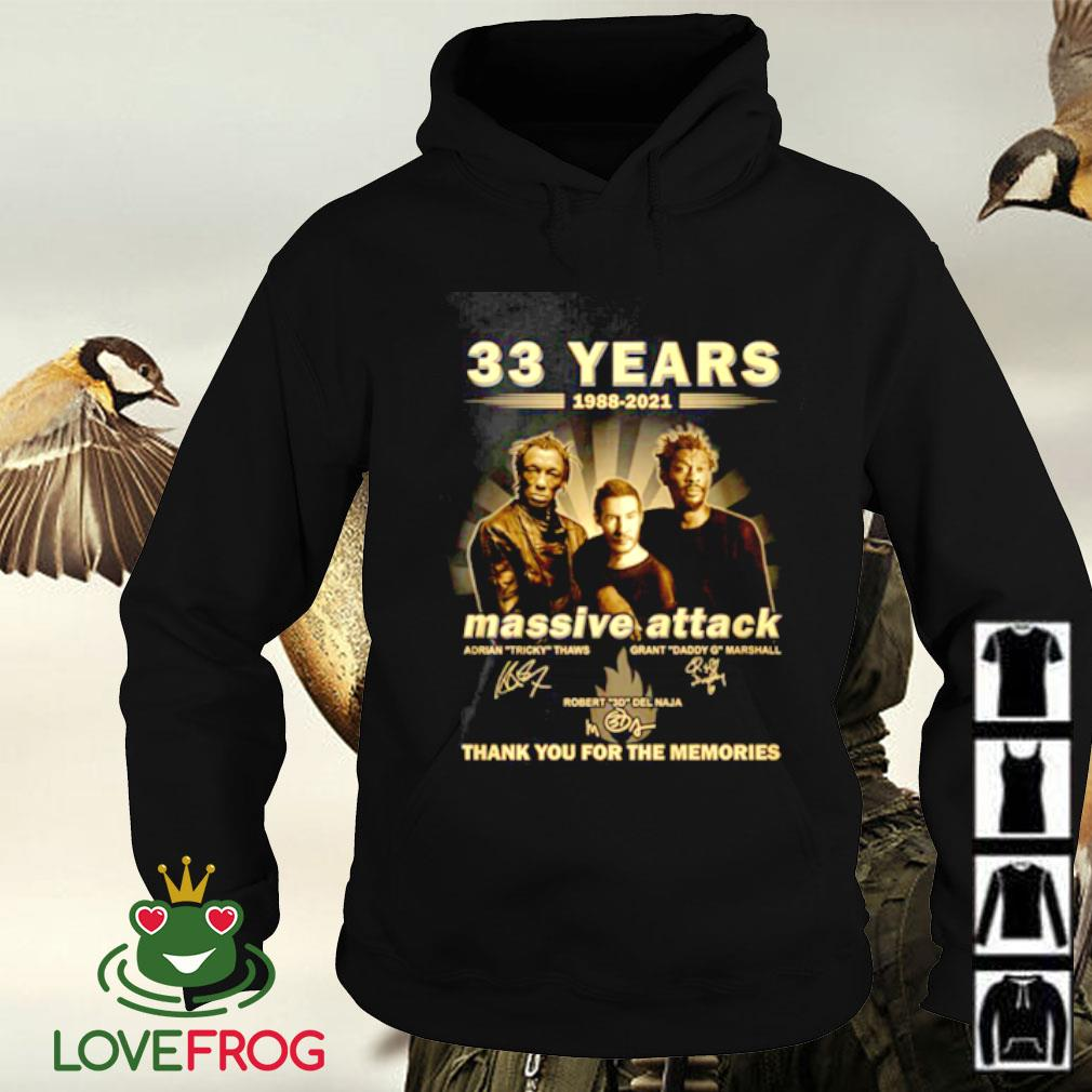 33 Years 1988-2021 Massive Attack thank you for the memories signature Hoodie