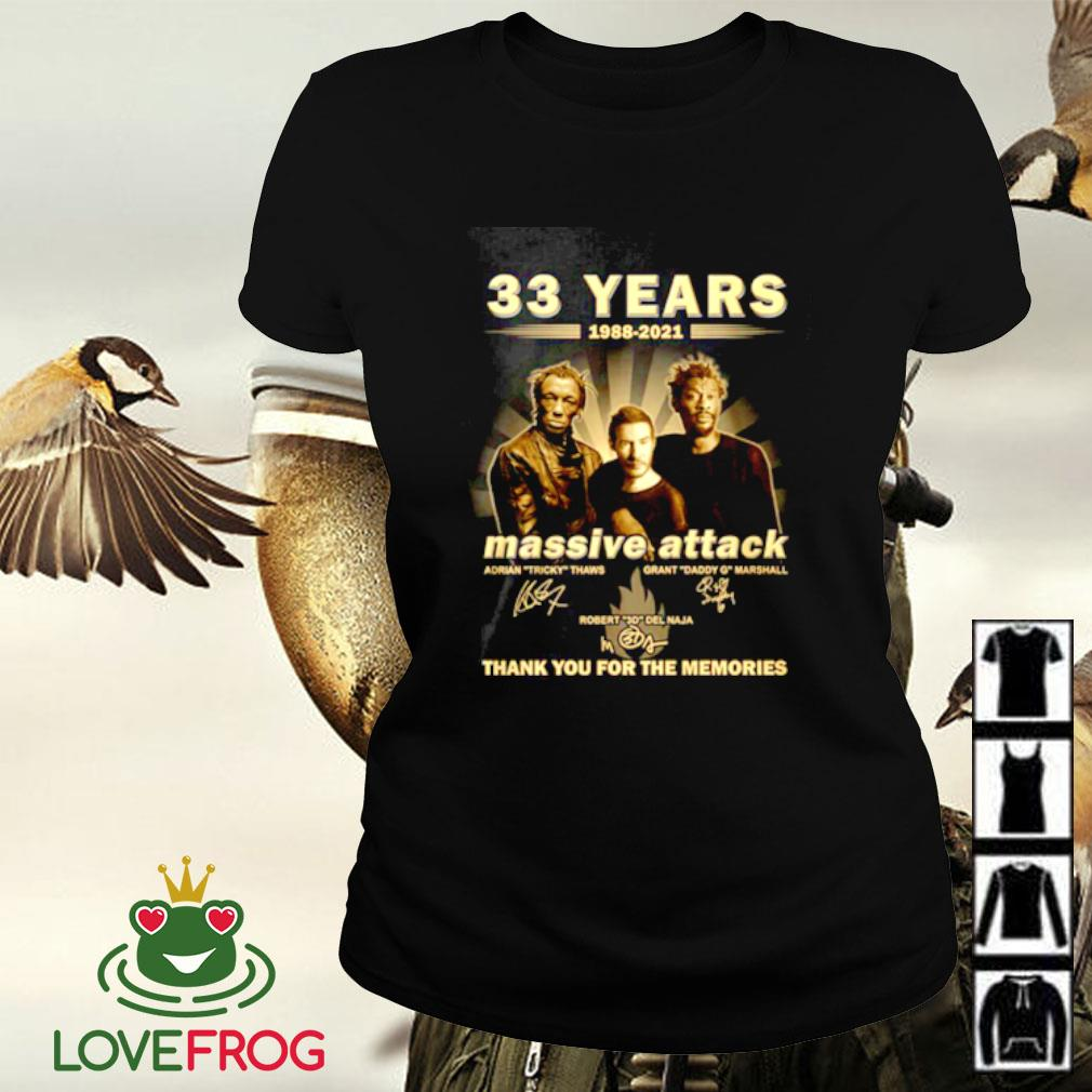 33 Years 1988-2021 Massive Attack thank you for the memories signature Ladies-tee
