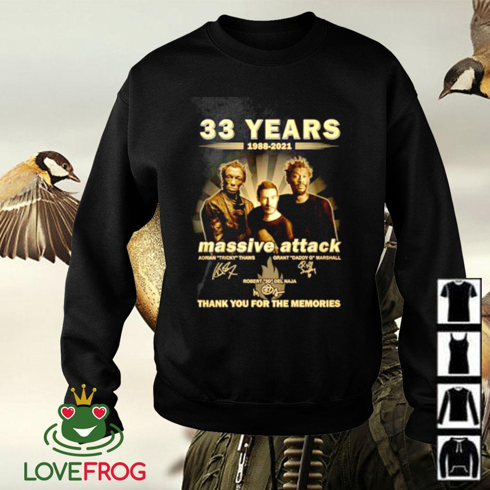 33 Years 1988-2021 Massive Attack thank you for the memories signature Sweater