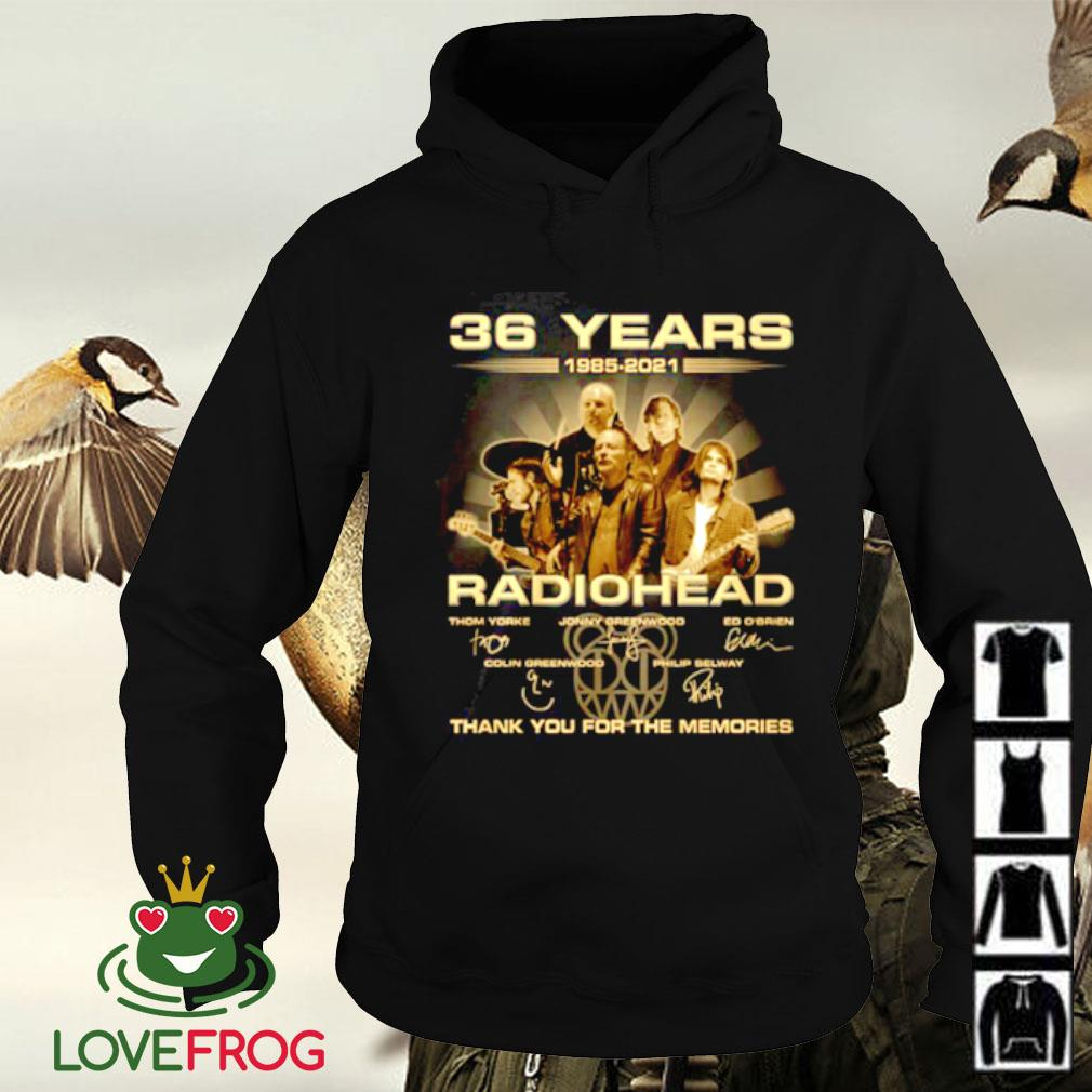 36 Years 1985-2021 Radiohead thank you for the memories signature Hoodie