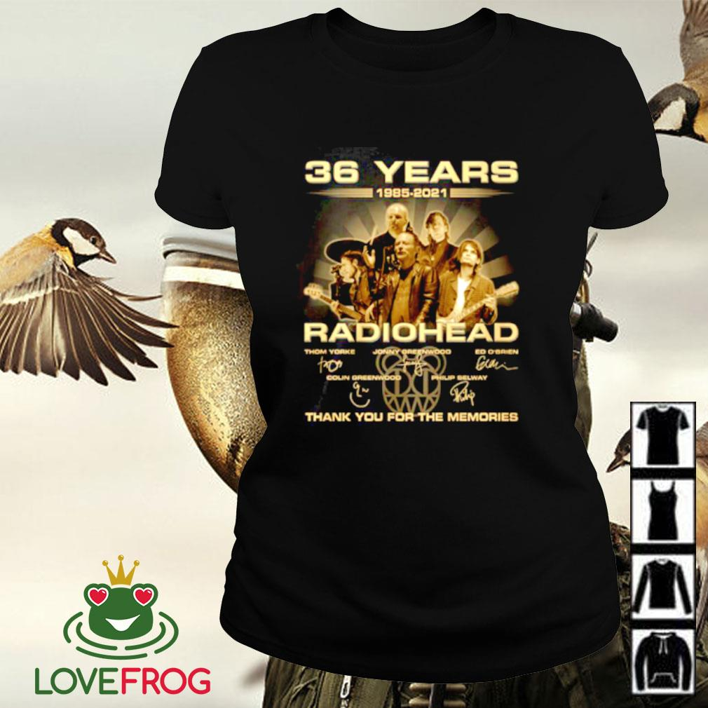 36 Years 1985-2021 Radiohead thank you for the memories signature Ladies-tee