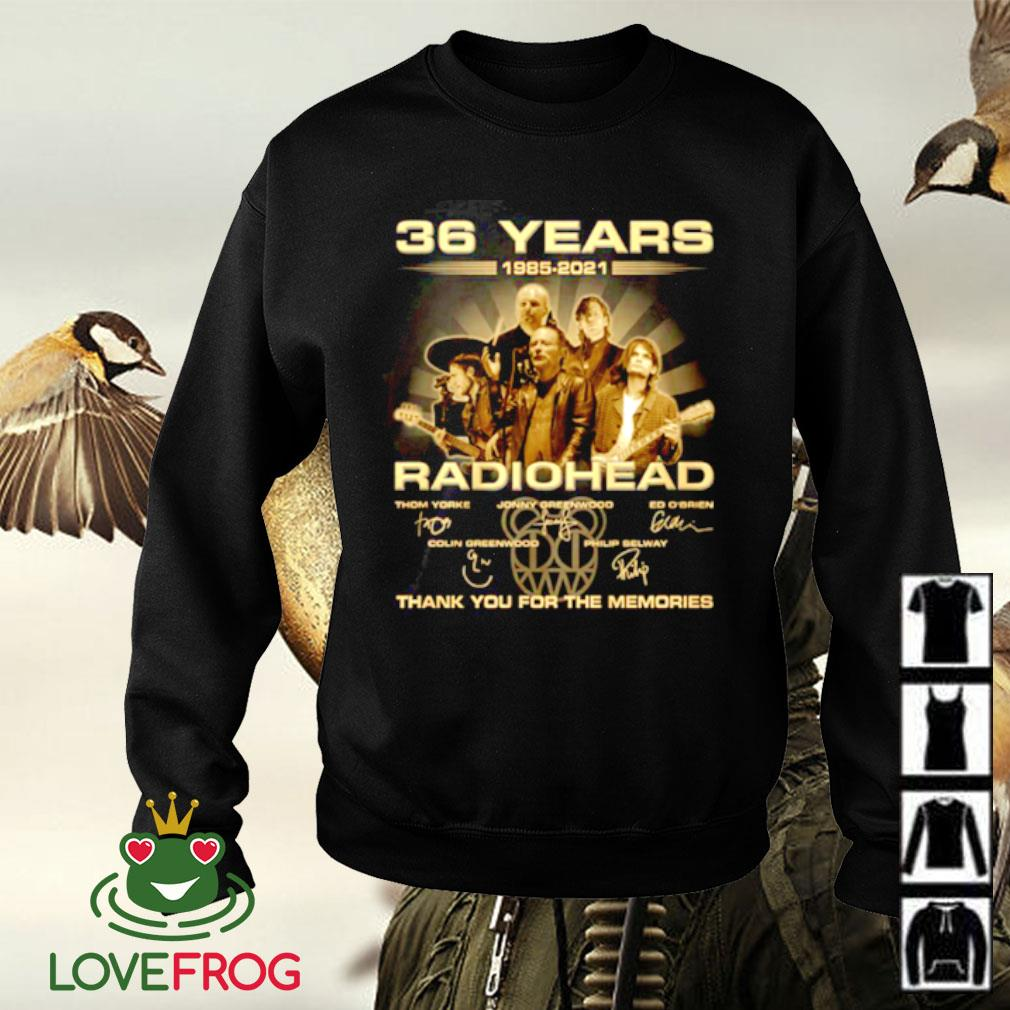 36 Years 1985-2021 Radiohead thank you for the memories signature Sweater