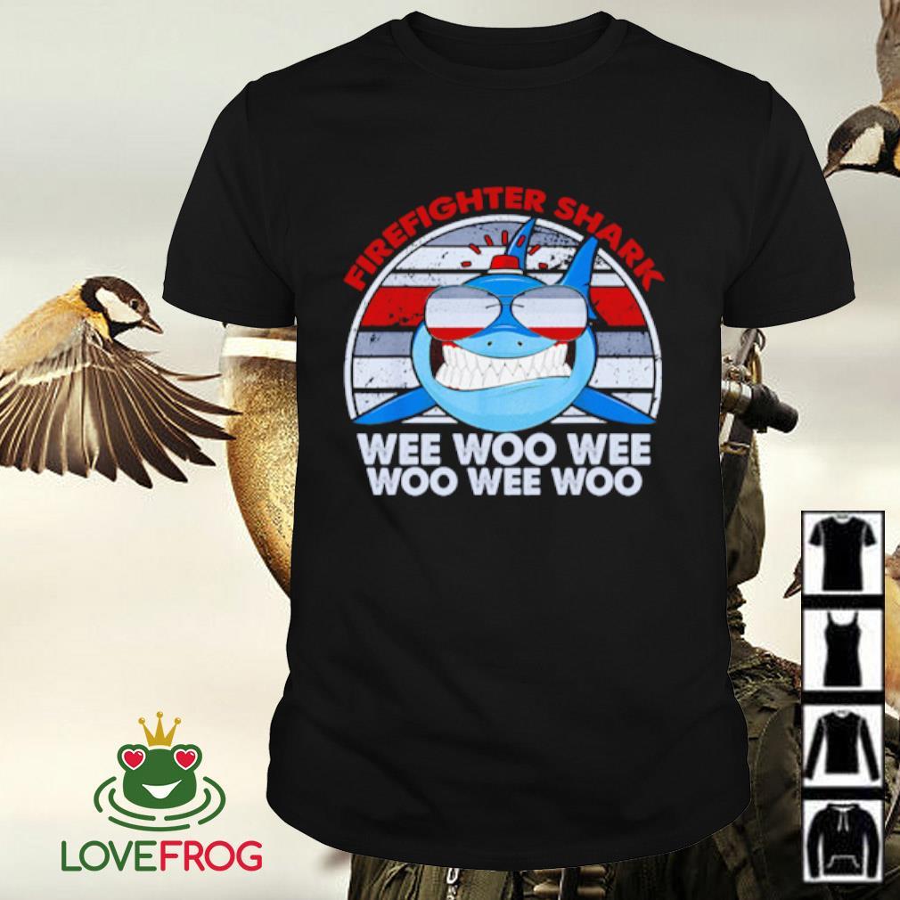Firefighter shark wee woo wee woo wee woo shirt