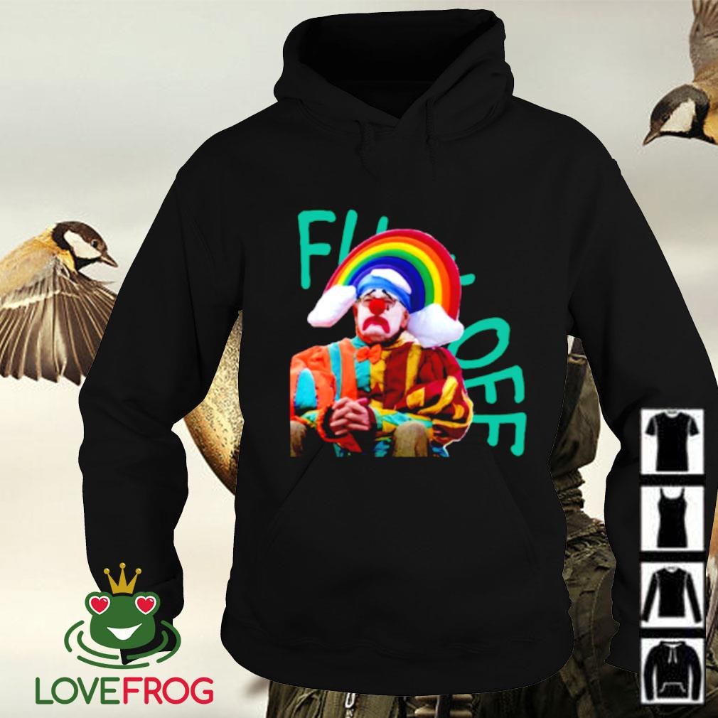 Fuck off clown rainbow Hoodie