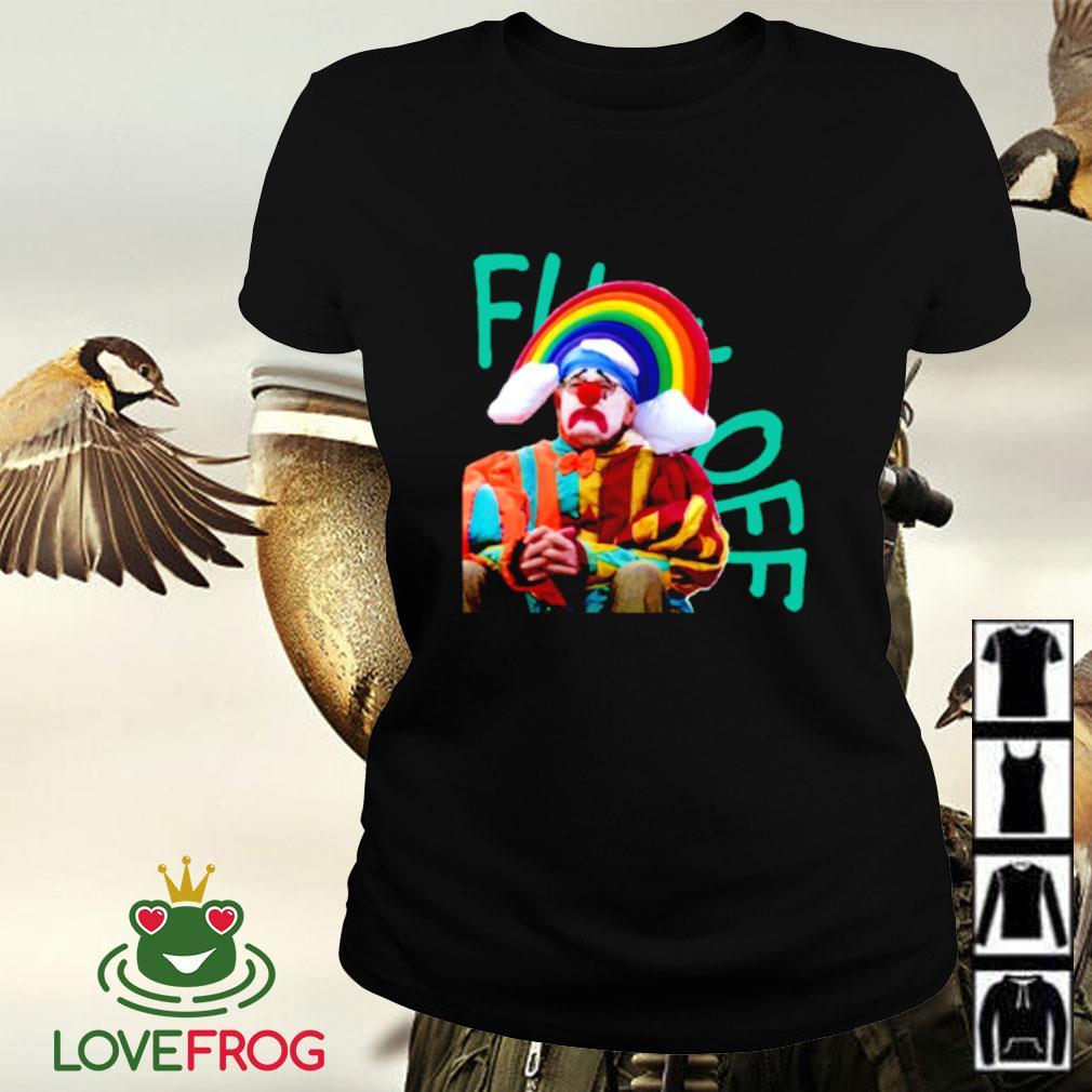 Fuck off clown rainbow Ladies-tee
