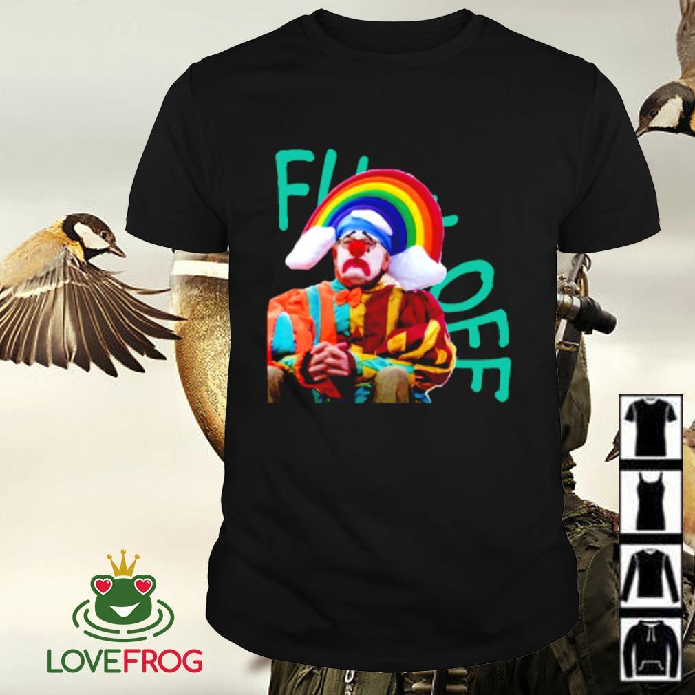 Fuck off clown rainbow shirt
