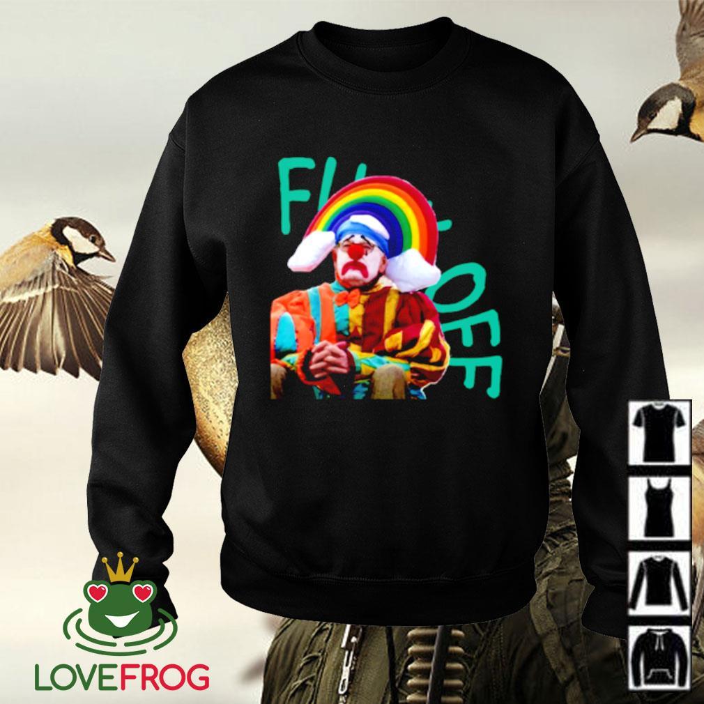 Fuck off clown rainbow Sweater