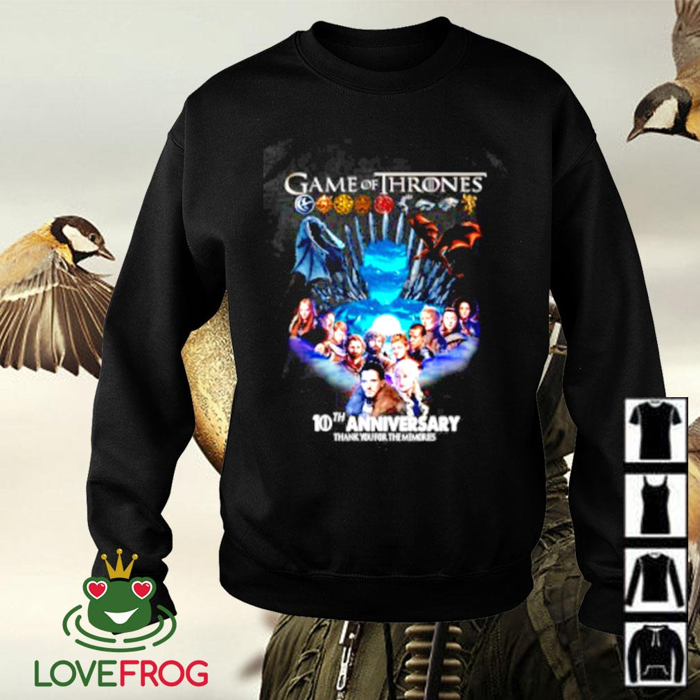 Game of Thrones 10th aniversary thank you for the memories Sweater