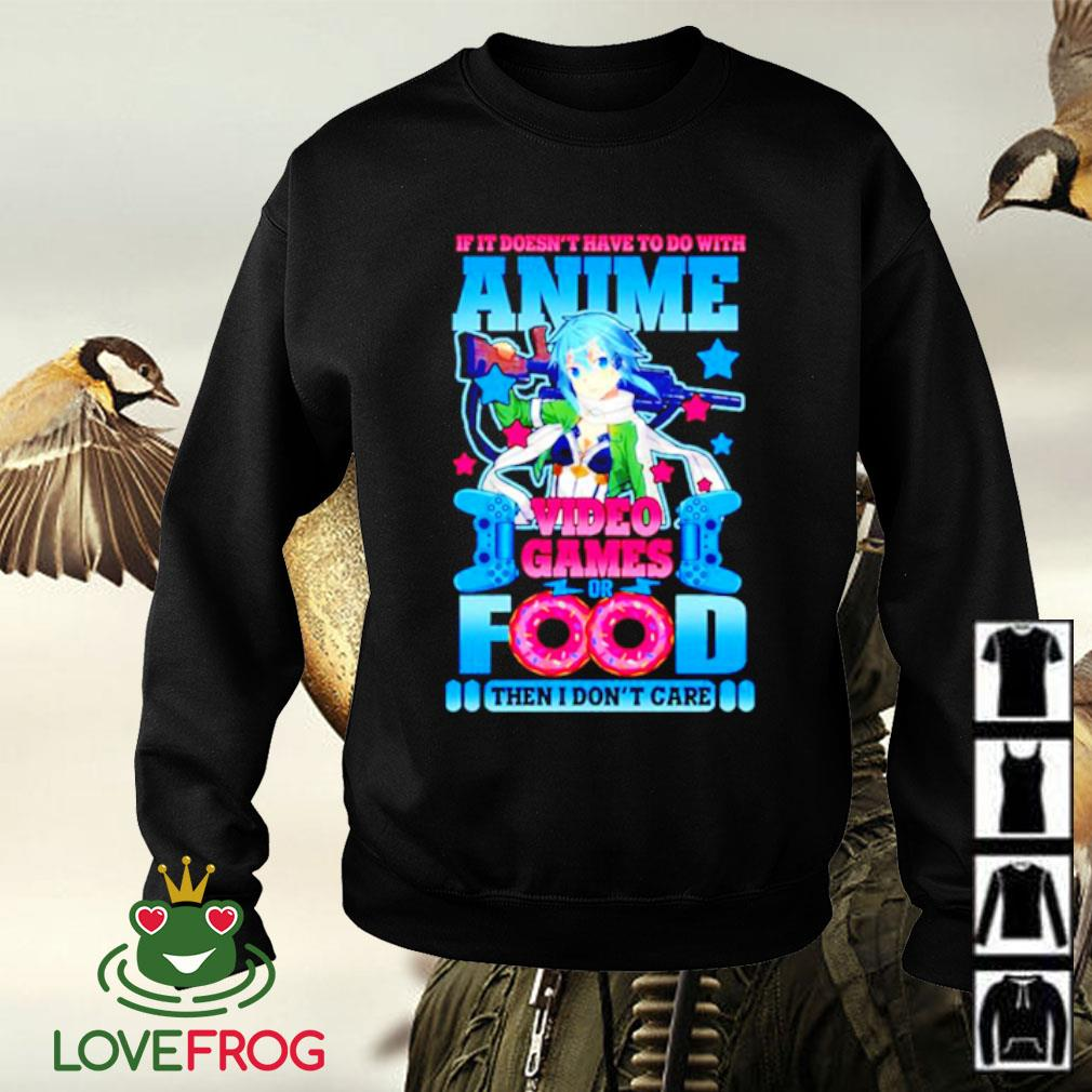 If it doesn't have to do with Anime video games or food Sweater
