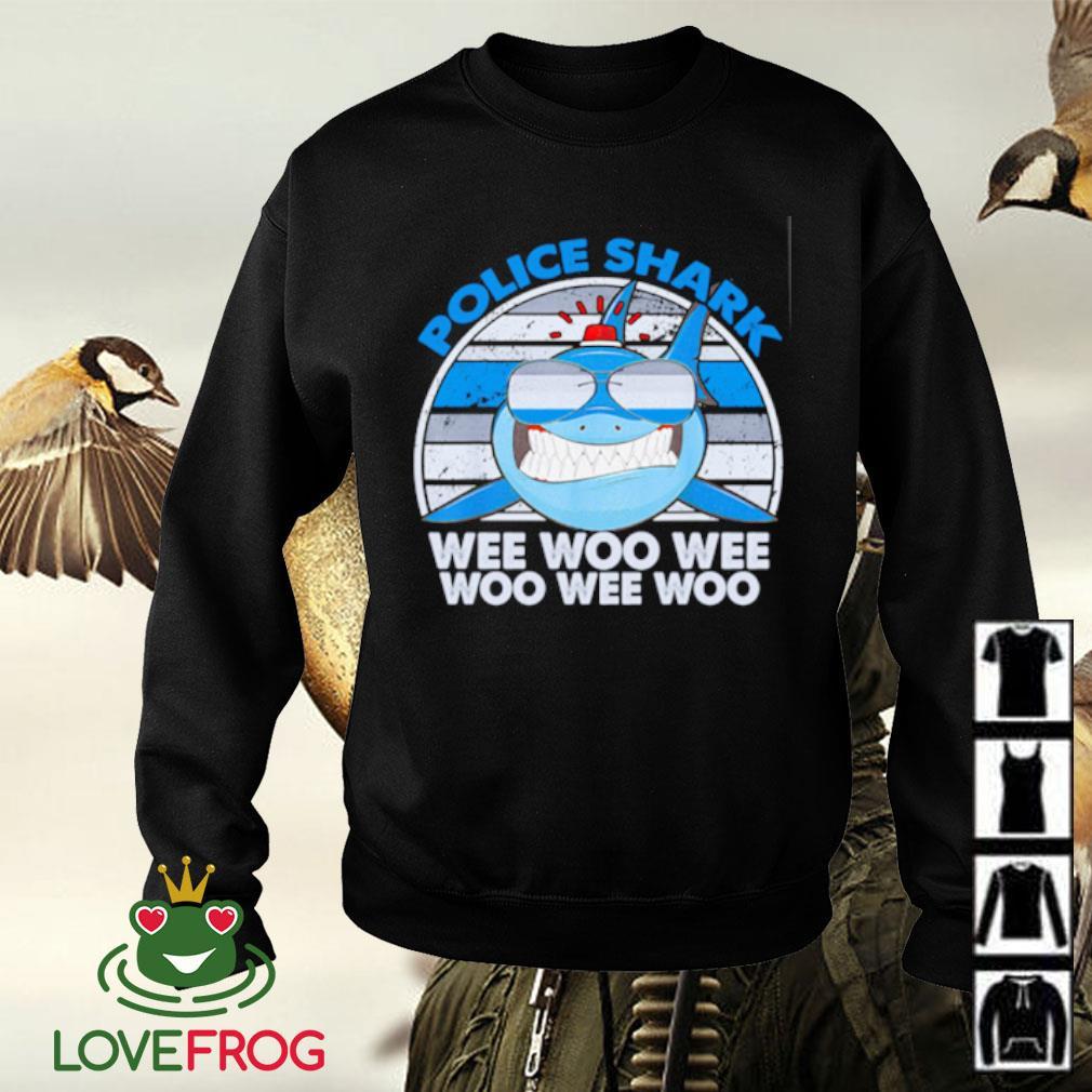 Police shark wee woo wee woo wee woo Sweater