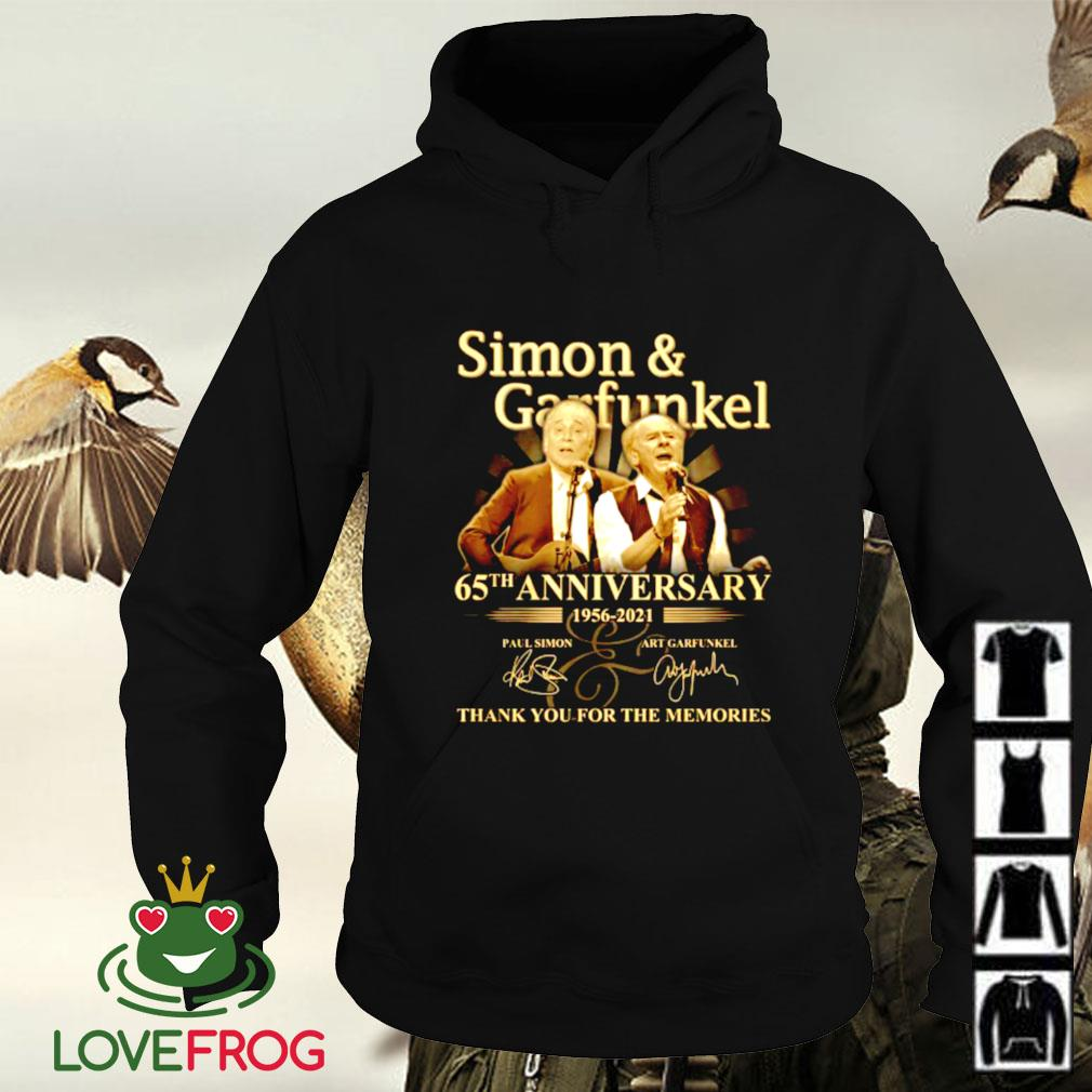 Simon garfunkel 65th anniversary 1956-2021 thank you for the memories signature Hoodie