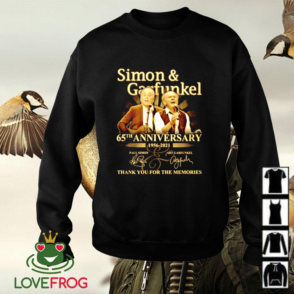 Simon garfunkel 65th anniversary 1956-2021 thank you for the memories signature Sweater