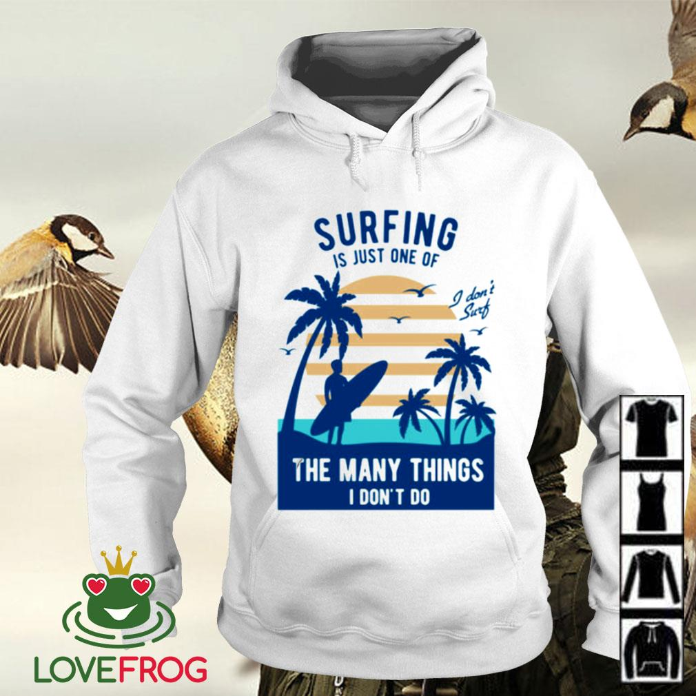 Surfing is just one of the many things I don't do Hoodie