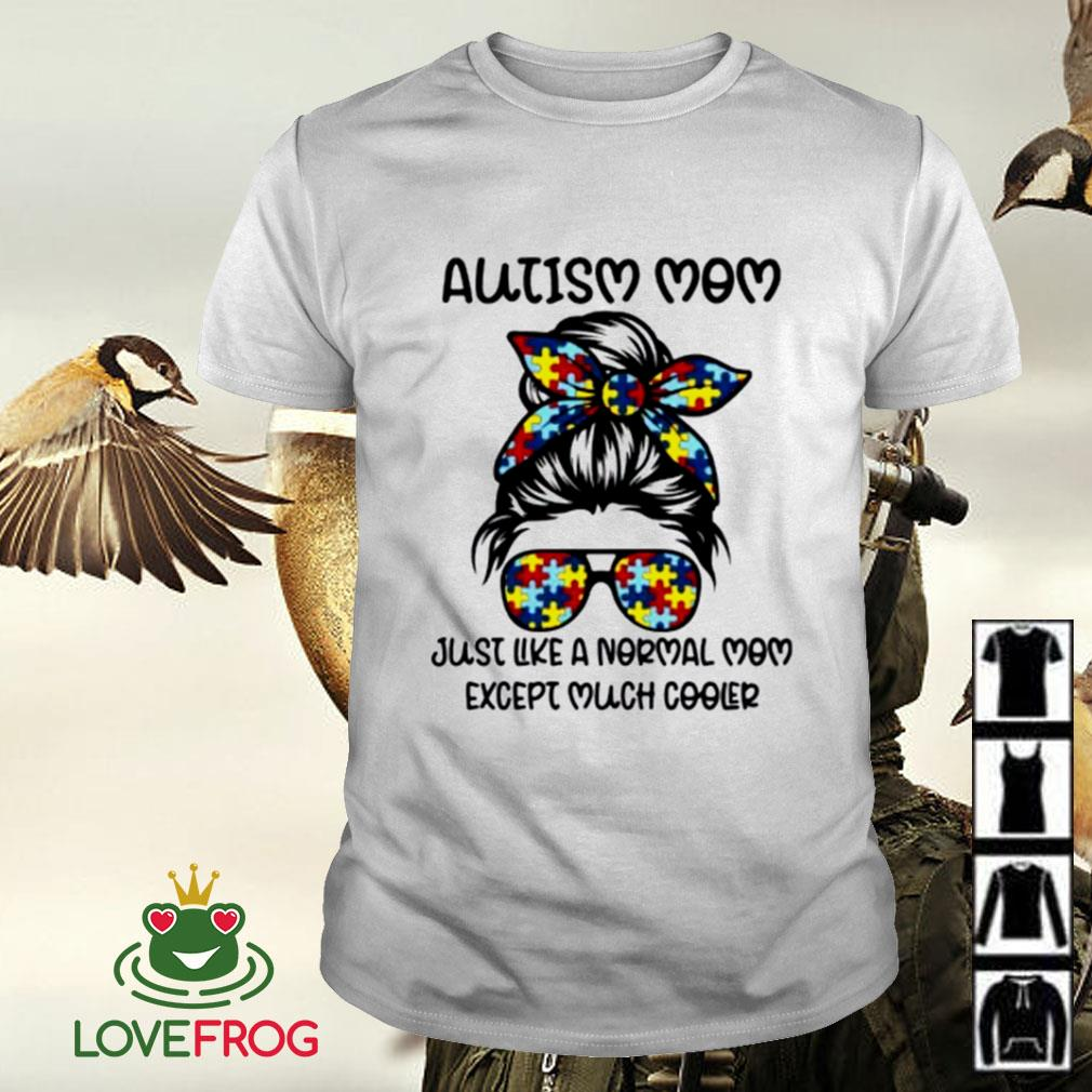 Autism mom just like a normal mom except much cooler shirt