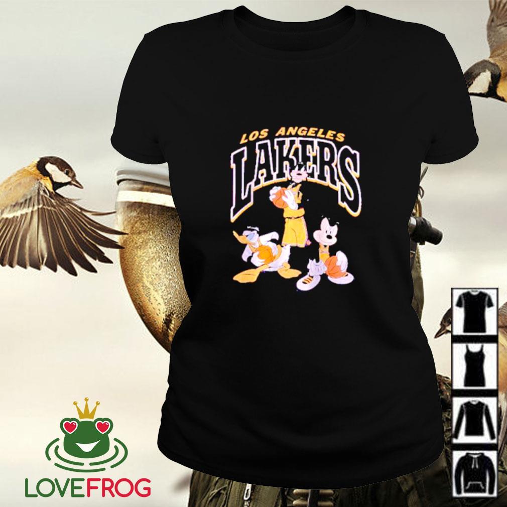 Los Angeles Lakers Disney mickey squad Ladies-tee