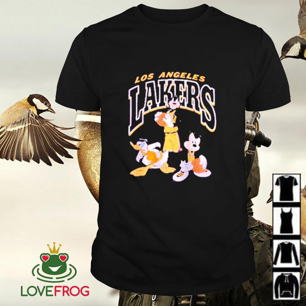 Los Angeles Lakers Disney mickey squad shirt