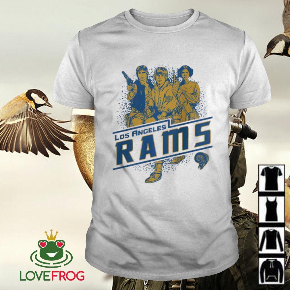 NFL Los Angeles Rams Star Wars Rebels Skywalker Leia and Han Solo shirt