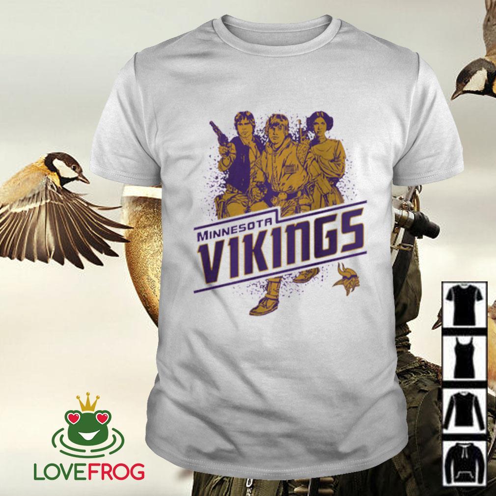 NFL Minnesota Vikings Star Wars Rebels Skywalker Leia and Han Solo shirt