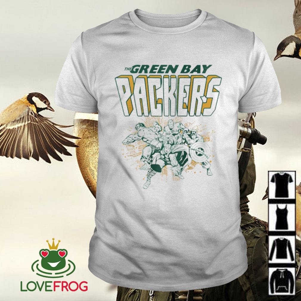 The Green Bay Packers NFL Marvel Hulk Iron Man Thor Captain America shirt