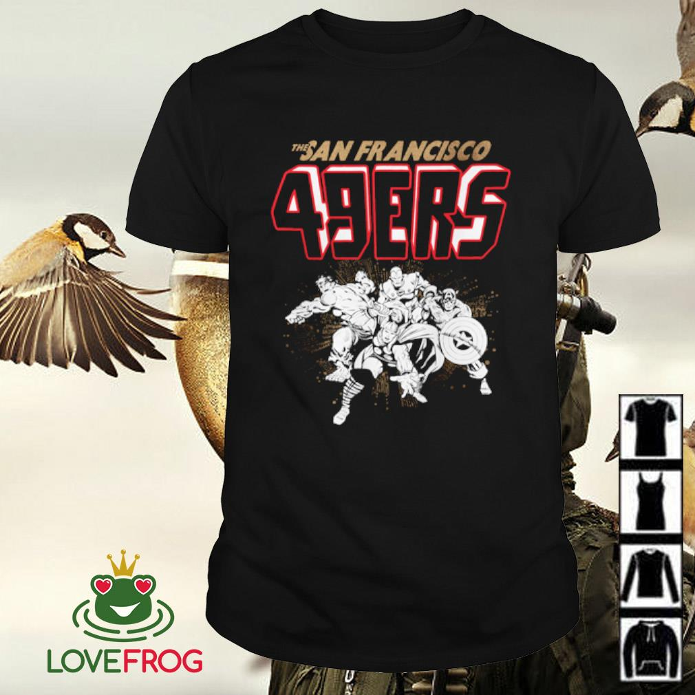 The San Francisco 49ers NFL Marvel Hulk Iron Man Thor Captain America shirt