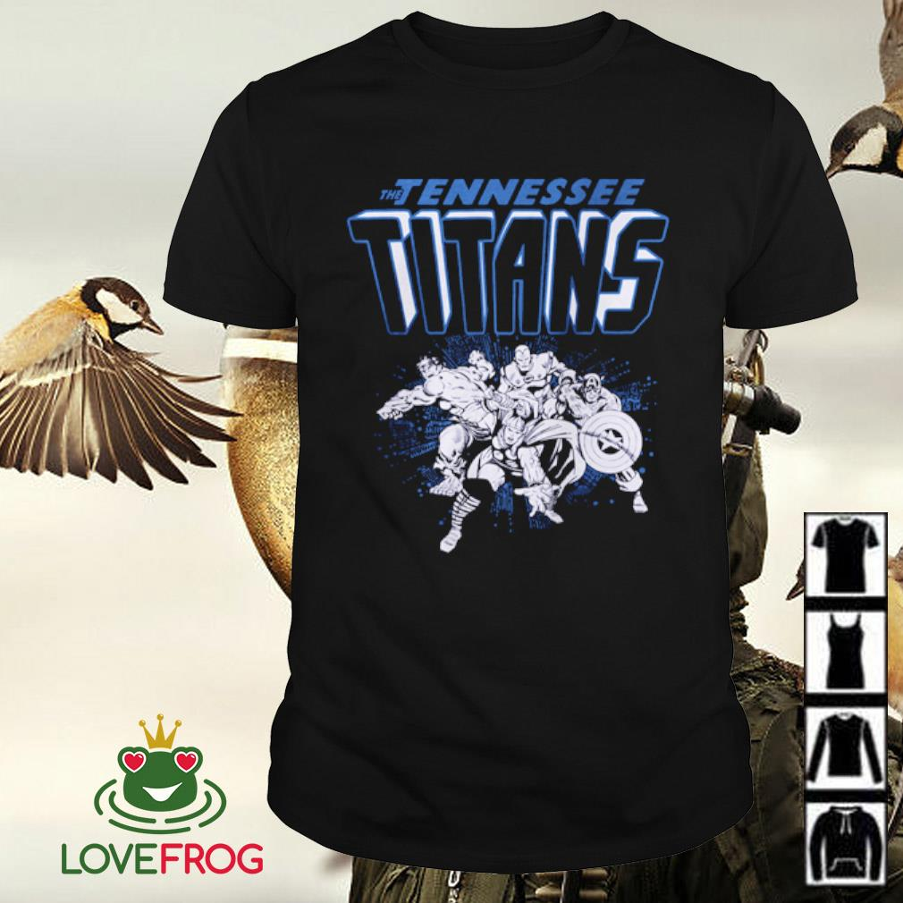 The Tennessee Titans NFL Marvel Hulk Iron Man Thor Captain America shirt
