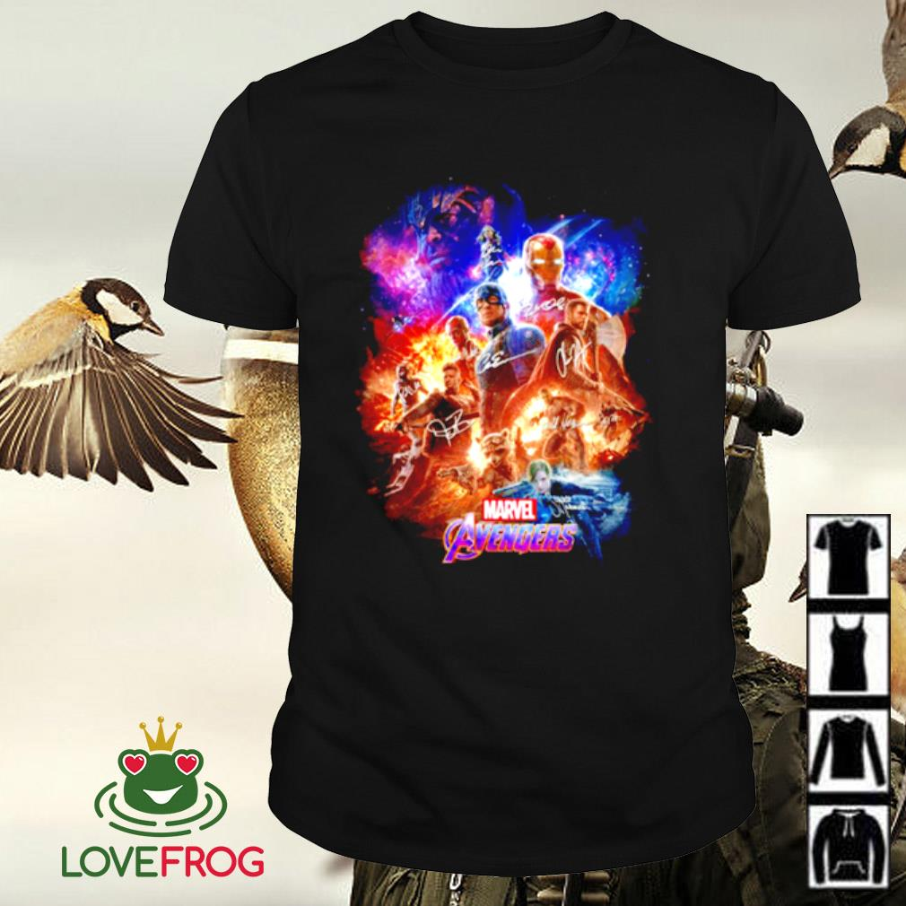 Marvel Avengers characters signature shirt
