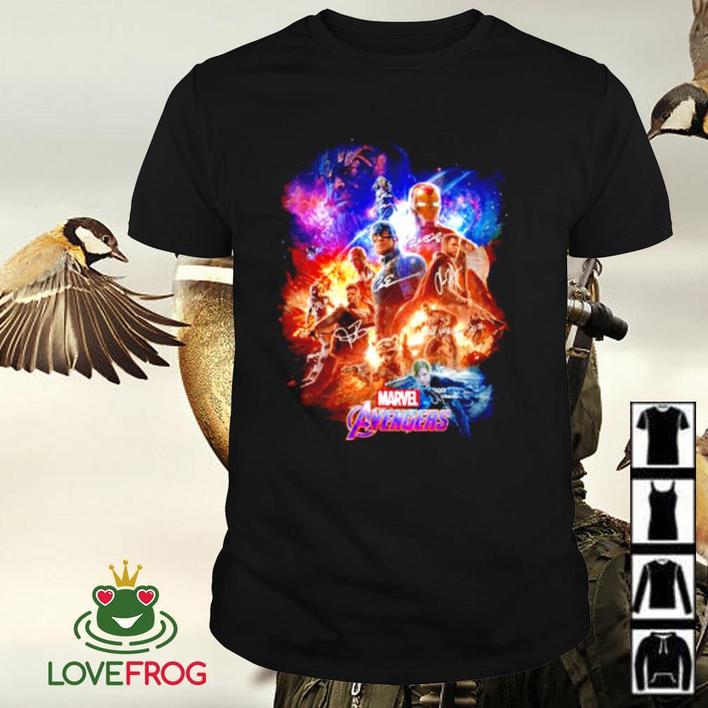 Marvel Avengers characters signature shirt