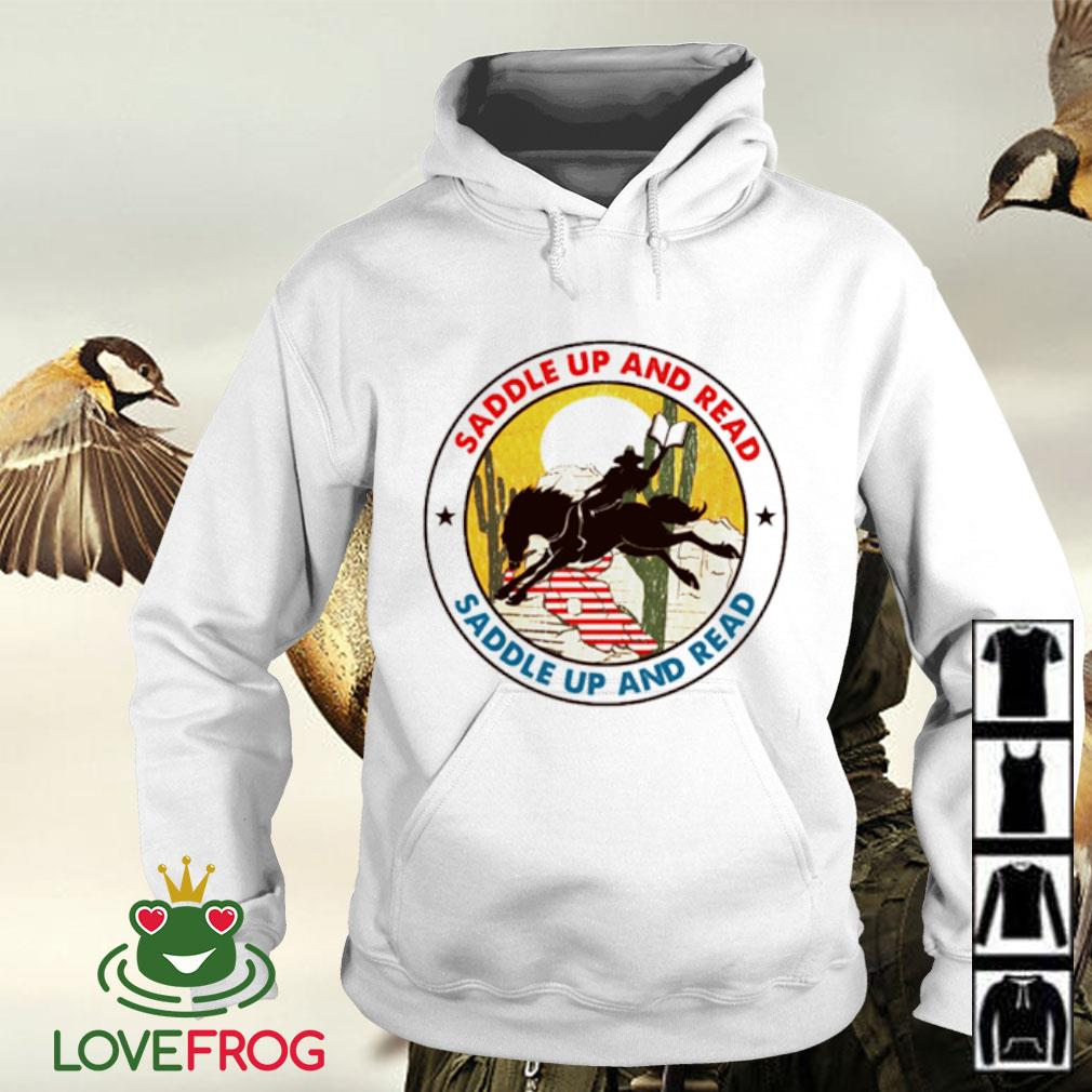 Saddle up and read riding horse Hoodie