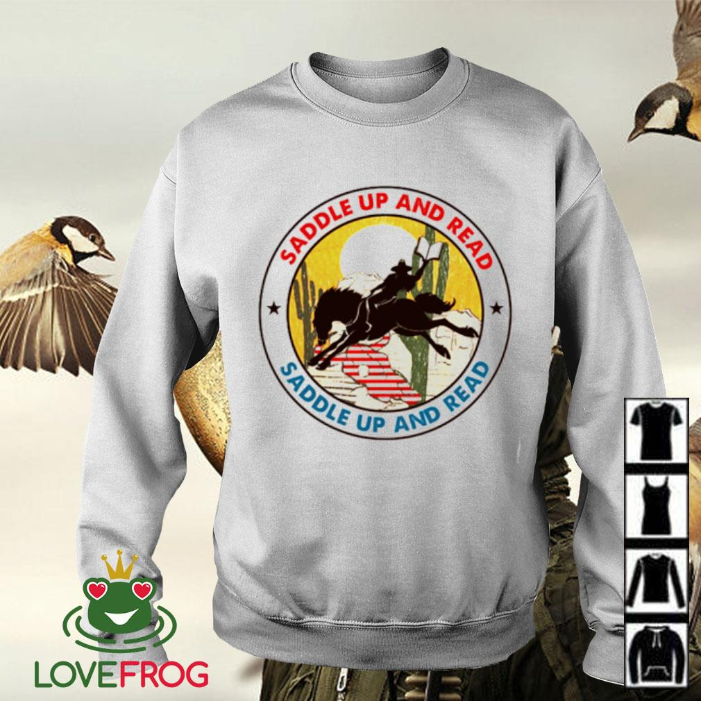 Saddle up and read riding horse Sweater