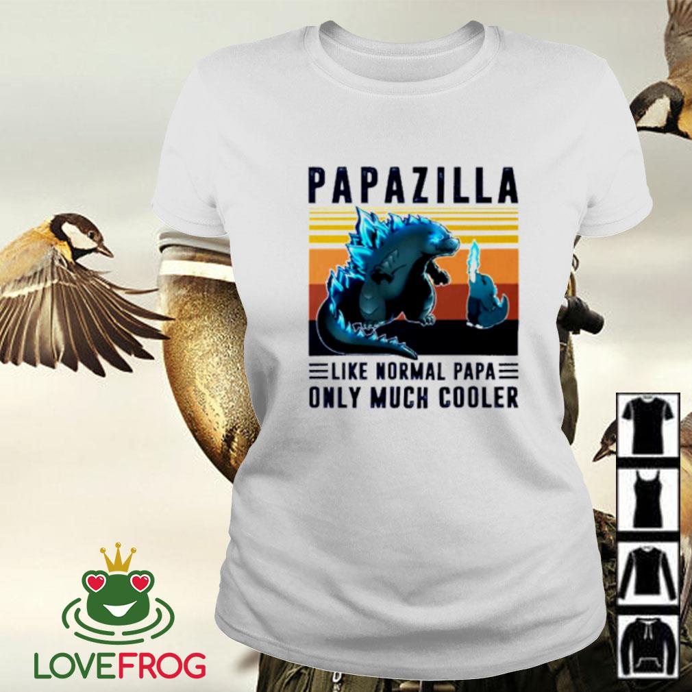Vintage papazilla like normal papa only much cooler Ladies-tee