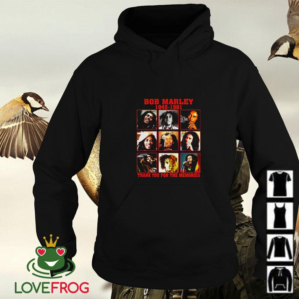 Bob Marley 1945 1981 thank you for the memories Hoodie