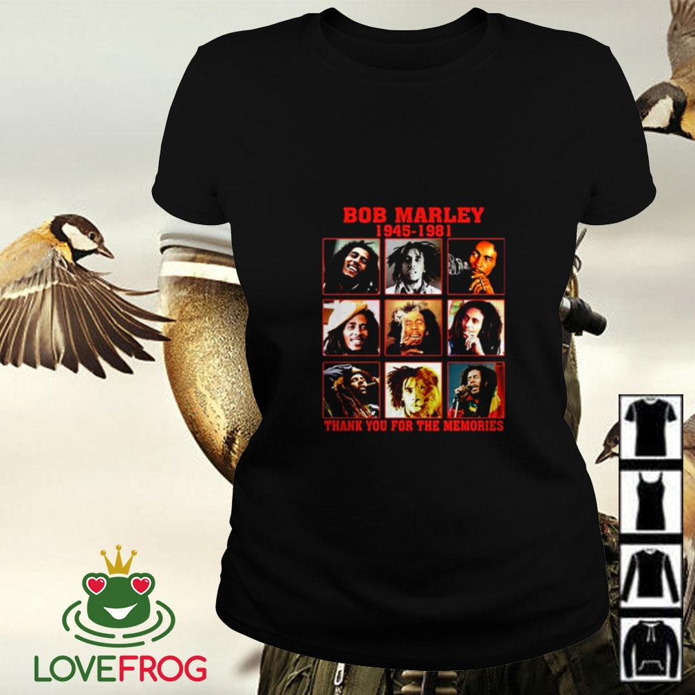 Bob Marley 1945 1981 thank you for the memories Ladies tee