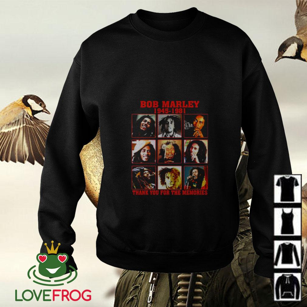 Bob Marley 1945 1981 thank you for the memories Sweater