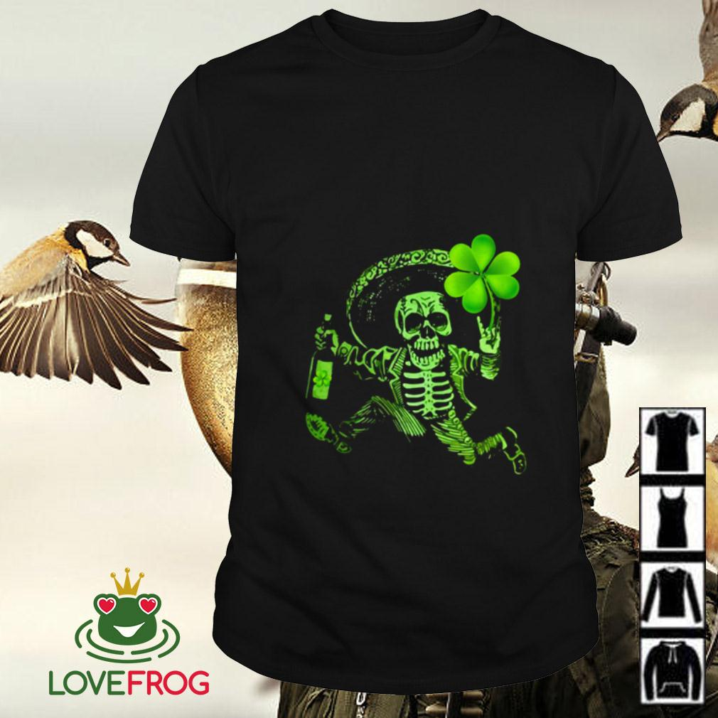 Day of Dead Shamrock St Patrick's Day shirt