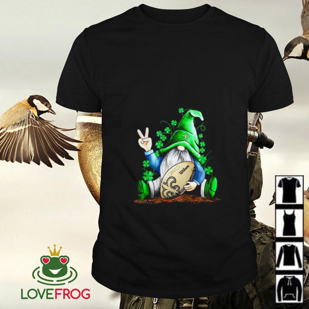 Gnome hugging New Orleans Saints St Patrick's Day shirt