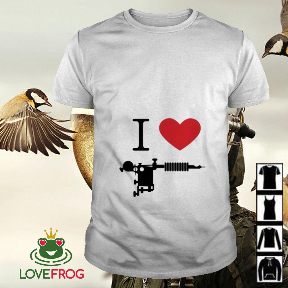 I love Tattoos guns shirt
