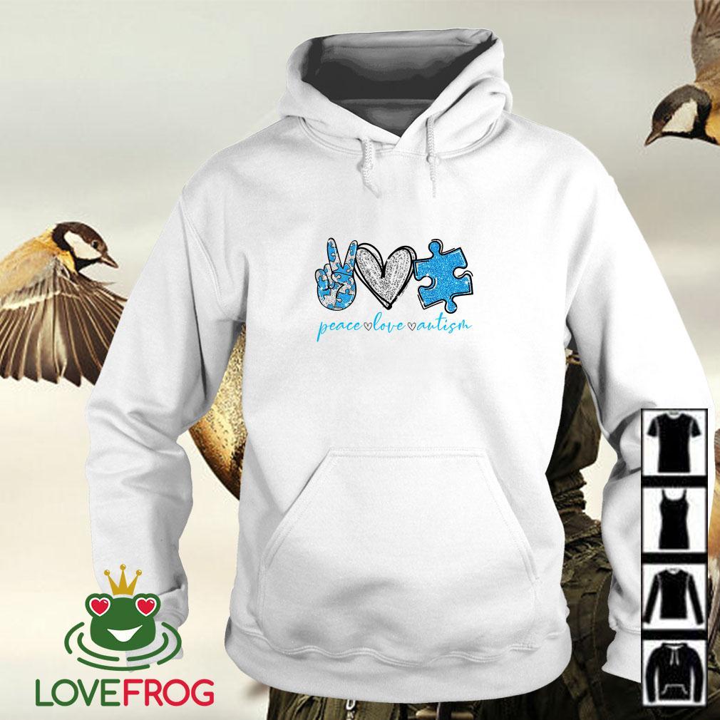 Peace Love Autism Awareness Hoodie