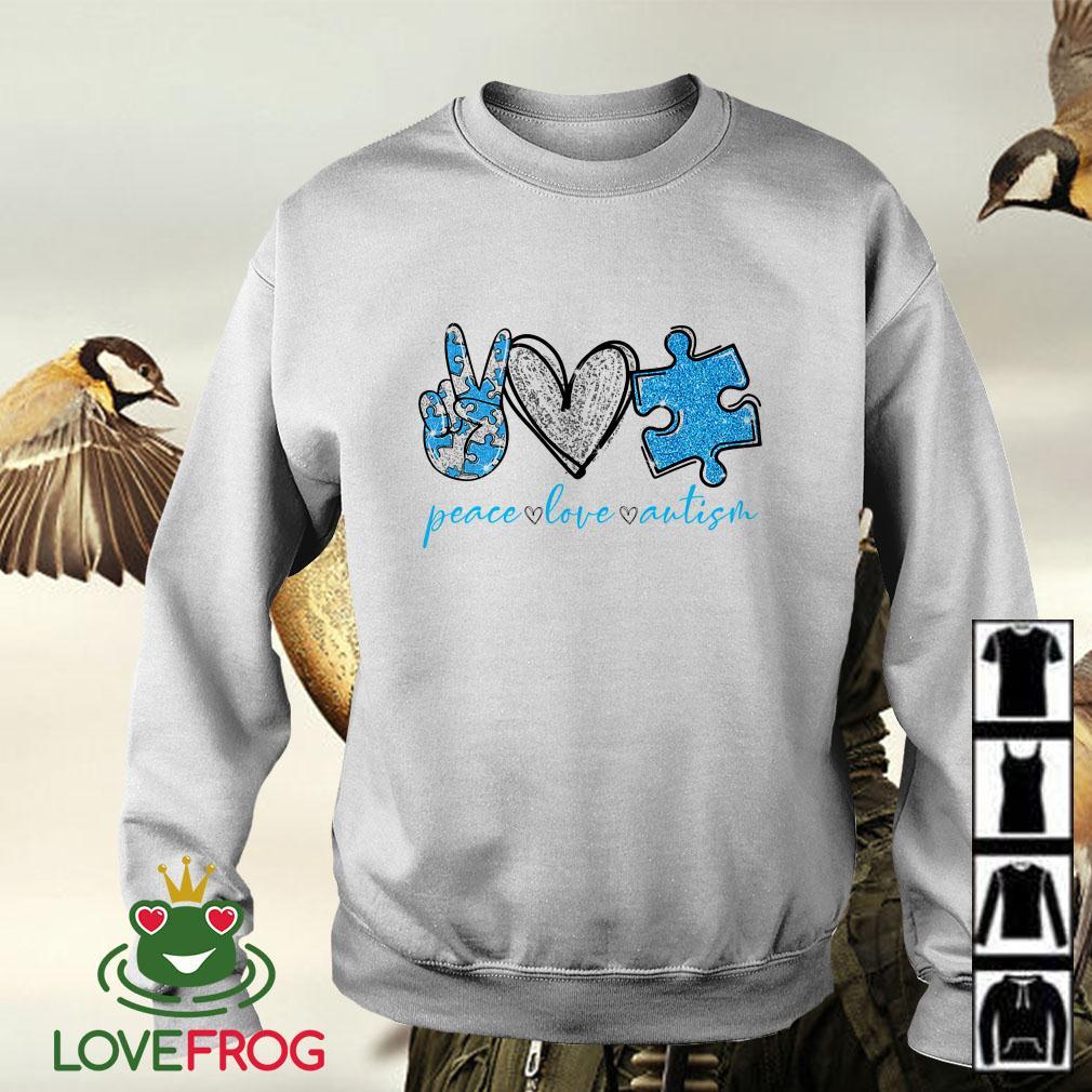 Peace Love Autism Awareness Sweater
