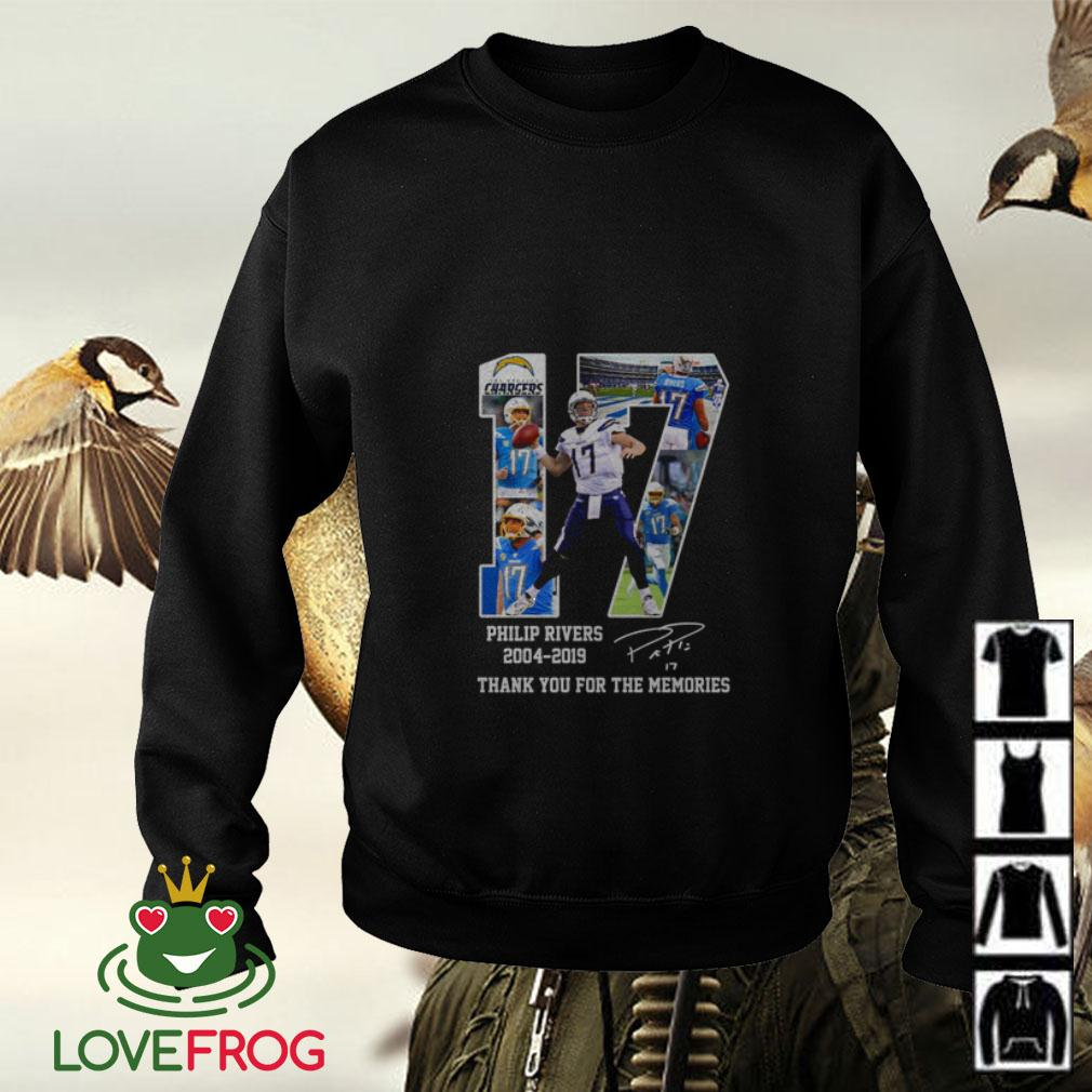 Philip Rivers 17 2004 2019 signature thank you for the memories Sweater
