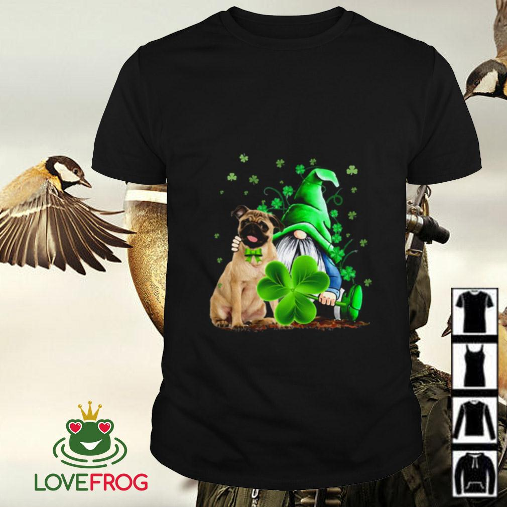 Pug and Gnome St Patrick's Day shirt