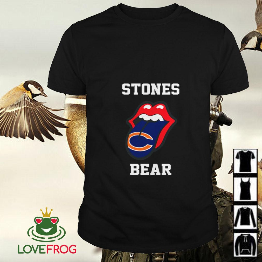 The Rolling Stones Chicago Bears shirt
