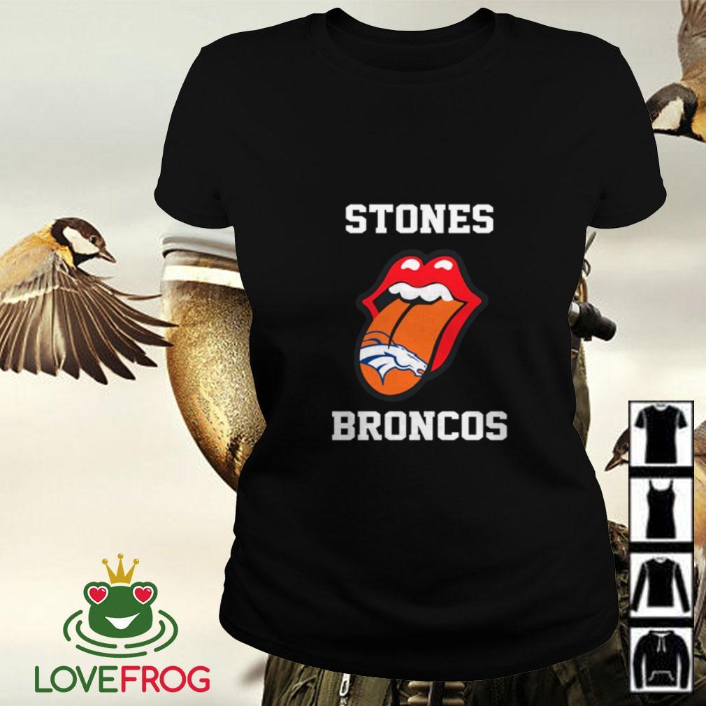 The Rolling Stones Denver Broncos Ladies tee