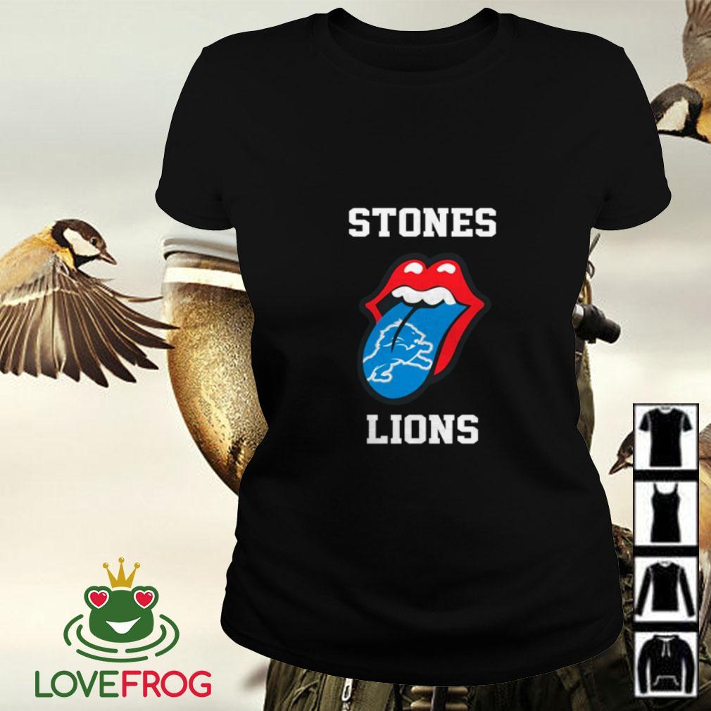 The Rolling Stones Detroit Lions Ladies tee
