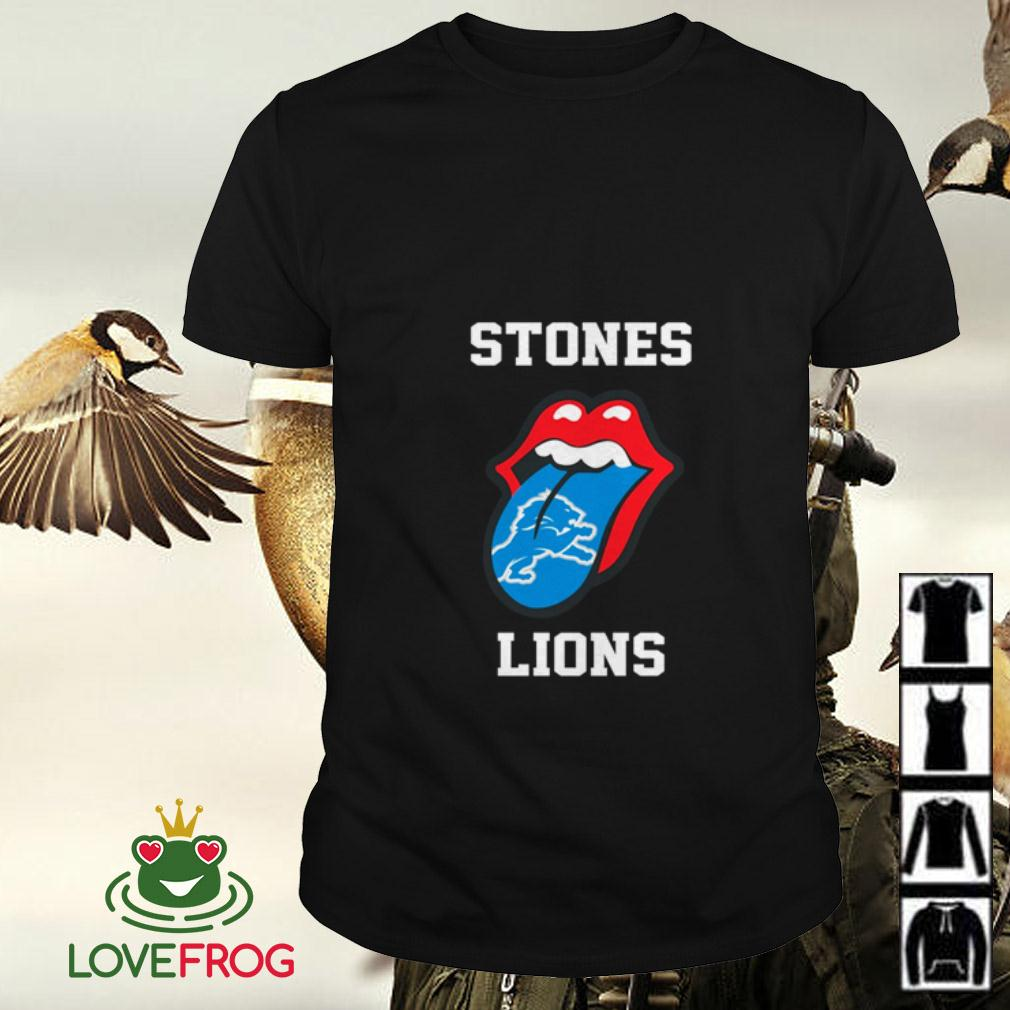 The Rolling Stones Detroit Lions shirt