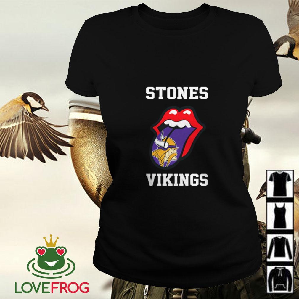The Rolling Stones Minnesota Vikings Ladies tee