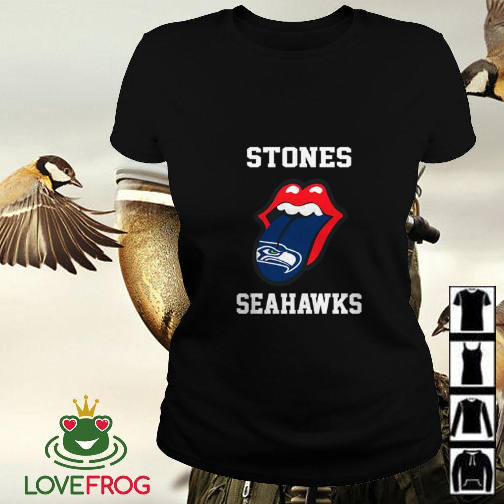The Rolling Stones Seattle Seahawks Ladies tee