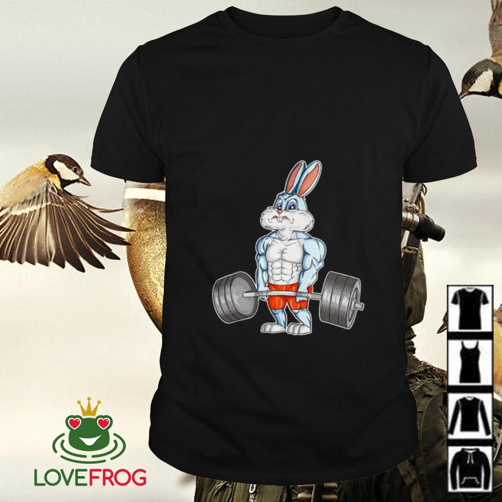 Weightlifting Easter Bunny Bodybuilding shirt